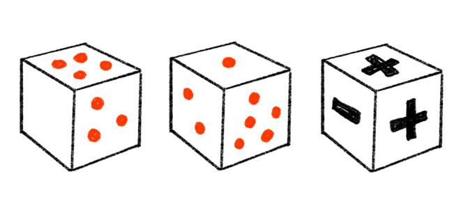 手作り知育サイコロ遊び方1