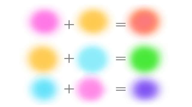 幼児の色遊び_混色表