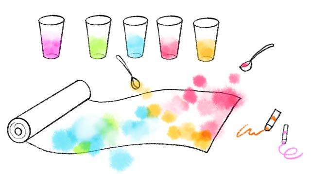 幼児の色遊び