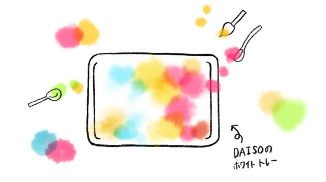 色遊び_マーブルの作り方