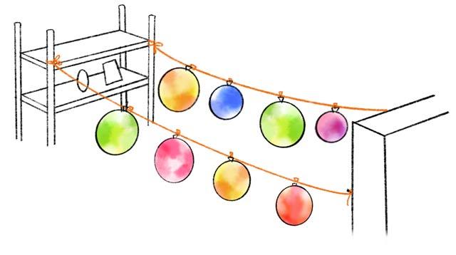 風船の吊るし方