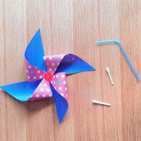 折り紙で風車の作り方4