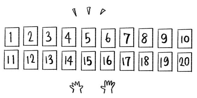記憶カードの並べ方