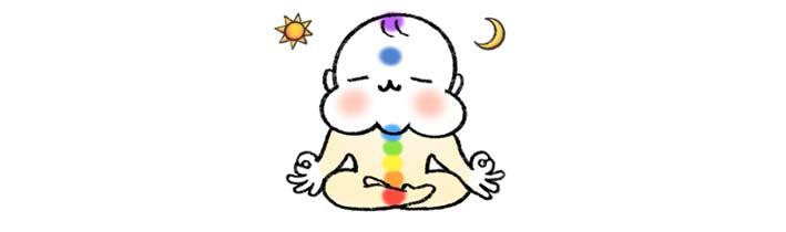 瞑想ラインスタンプ