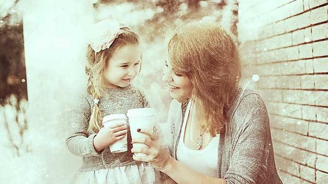 母と子供のコミュニケーション