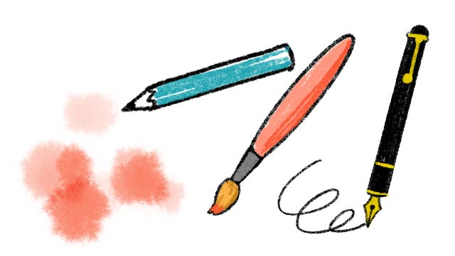 選び取りの種類、筆