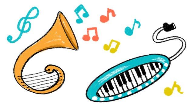 選び取りの種類、楽器